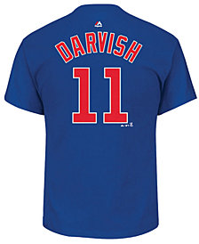 Majestic Men's Yu Darvish Chicago Cubs Official Player T-Shirt