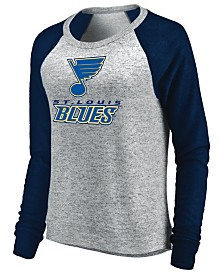 Majestic Women's St. Louis Blues Cozy Crew Long Sleeve T-Shirt
