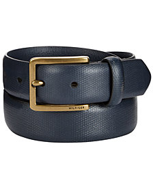 Tommy Hilfiger Men's Pebble Dress Belt