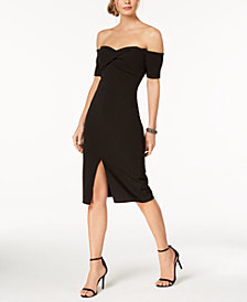 Betsy & Adam Off-The-Shoulder Sweetheart Sheath Dress