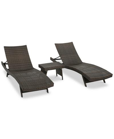 Carlsbad 3-Pc. Lounge Set, Quick Ship