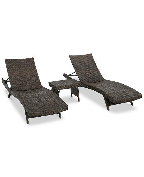Noble House Carlsbad 3-Pc. Lounge Set