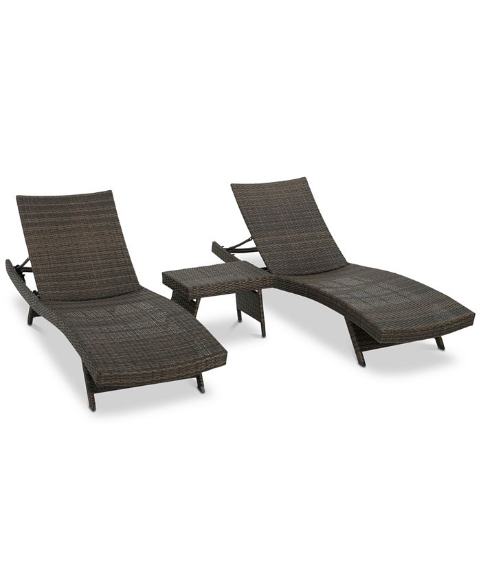 Noble House - Carlsbad 3-Pc. Lounge Set, Quick Ship