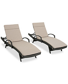 Tatum Outdoor Chaise Lounge (Set of 2), Quick Ship