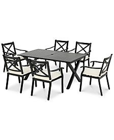 Stonewell 7-Pc. Dining Set, Quick Ship