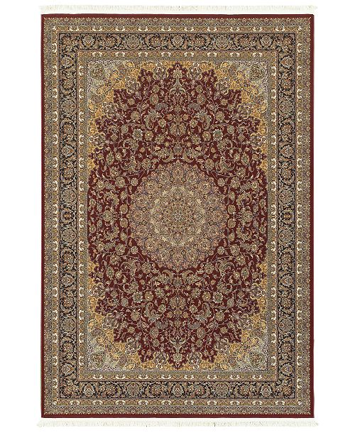 "JHB Design  Paragon Medallion Red 3'10"" x 5'5"" Area Rug"