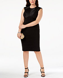 Betsy & Adam Plus Size Banded Sheath Dress