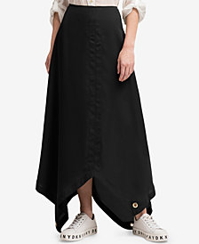 DKNY Grommet-Trim Maxi Skirt, Created for Macy's