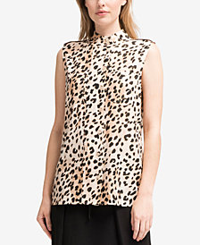 DKNY Animal-Print Shirt, Created for Macy's
