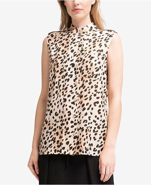 4523b666b ... DKNY Animal-Print Shirt