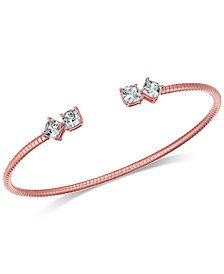 Danori Crystal Flex Cuff Bracelet, Created for Macy's