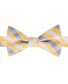 Tommy Hilfiger Men's Derby Small Gingham Pre-Tied Silk Bow Tie