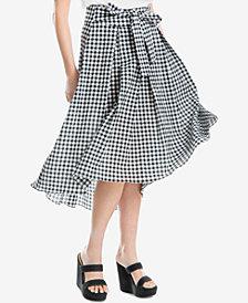 Max Studio London Gingham-Print Midi Skirt, Created for Macy's