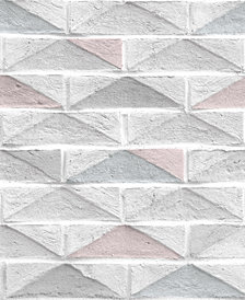 Graham & Brown Geo Brick White Wallpaper