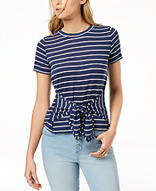 Maison Jules Tie-Front Top, Created for Macy's
