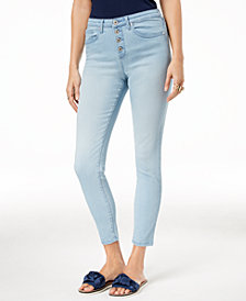 Maison Jules Button-Fly Skinny Jeans, Created for Macy's