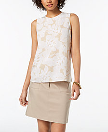 Tommy Hilfiger Floral-Print Shell, Created for Macy's