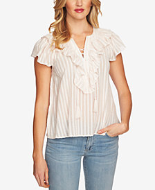 CeCe Cotton Lace-Up Top