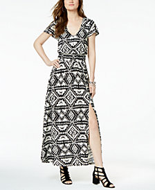 I.N.C. Ikat-Print Maxi Dress, Created for Macy's