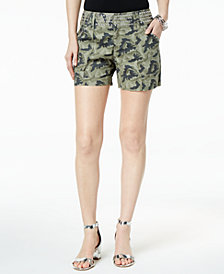 I.N.C. Studded Camo-Print Shorts, Created for Macy's
