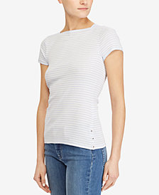 Lauren Ralph Lauren Rib-Knit Cotton T-Shirt