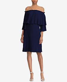 Lauren Ralph Lauren Off-The-Shoulder Georgette Dress