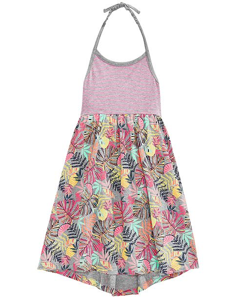 Little Girls Cotton Printed Halter Dress, Created for Macy's