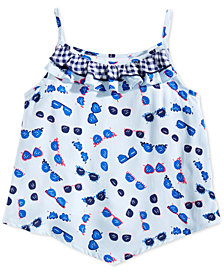 Epic Threads Little Girls Printed Ruffle-Trim Tank Top, Created for Macy's