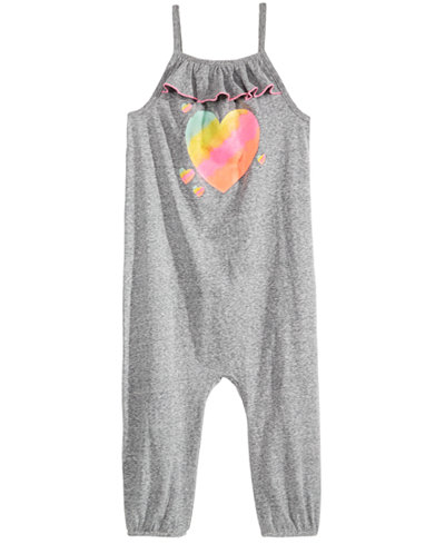 Epic Threads Little Girls Graphic-Print Romper, Created for Macy's