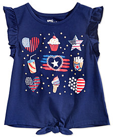 Epic Threads Toddler Girls Ruffle-Sleeve Graphic-Print T-Shirt, Created for Macy's