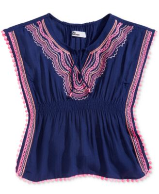 Little Girls Embroidered Caftan Top, Created for Macy's