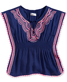 Epic Threads Little Girls Embroidered Caftan Top, Created for Macy's