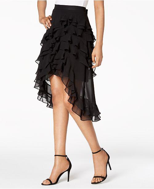 9767196b1 MSK Ruffled High-Low A-Line Skirt & Reviews - Skirts - Women - Macy's