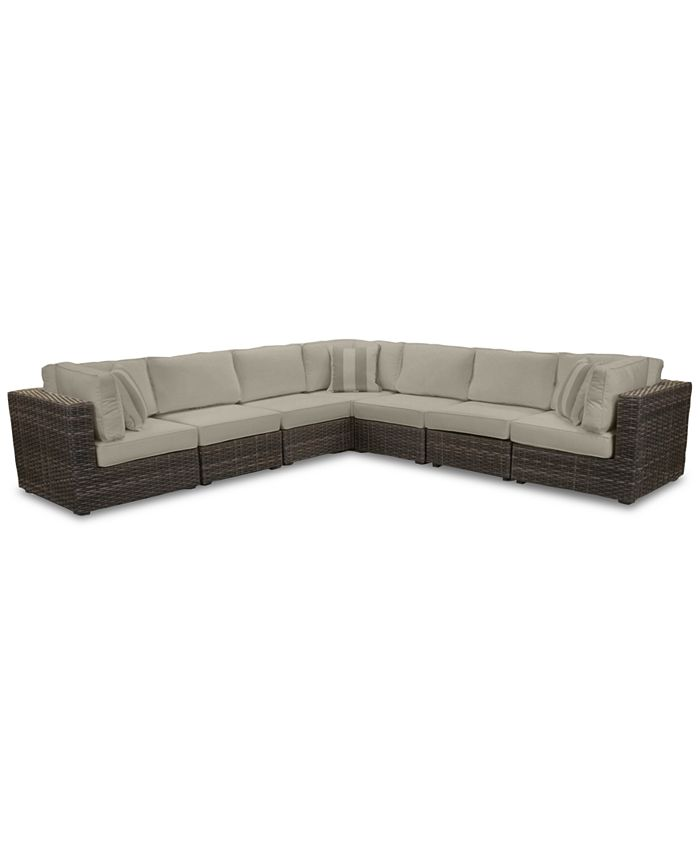 Furniture - Viewport Outdoor 7-Pc. Modular Seating Set (3 Corner Units and 4 Armless Units)