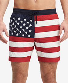 Tommy Hilfiger Men's Flag 6.5'' Swim Trunks, Created for Macy's