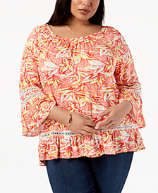 John Paul Richard Plus Size Off-The-Shoulder Top