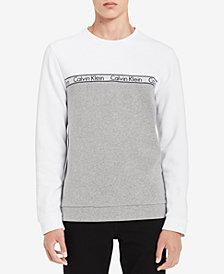Calvin Klein Men's Logo Colorblocked Sweatshirt