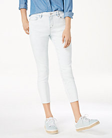 Black Daisy Juniors' Billie Cropped Skinny Jeans
