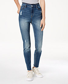 Black Daisy Juniors' Selina High Rise Skinny Jeans