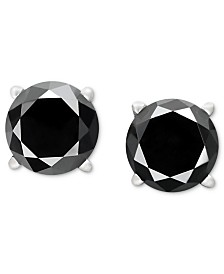 black gold stud dp white diamond in ct cttw to earrings