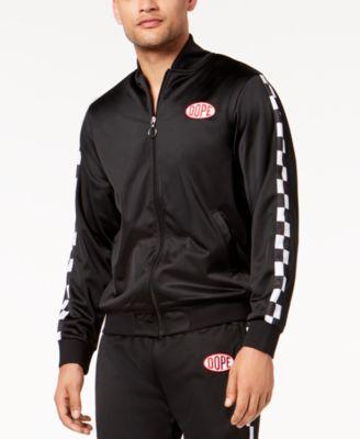 Men's Brickyard Logo-Print Full-Zip Racing Jacket