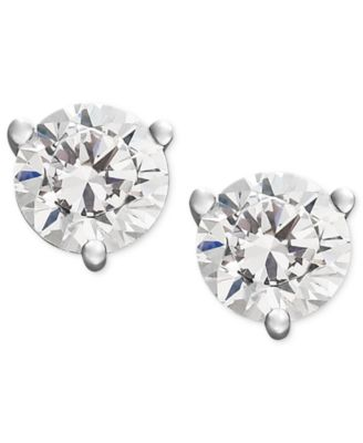 Near Colorless Certified Diamond Stud Earrings in 18k White or Yellow Gold (1/2 ct. t.w.)