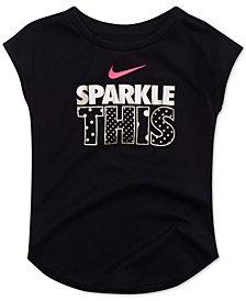 Nike Toddler Girls Sparkle-Print Cotton T-Shirt