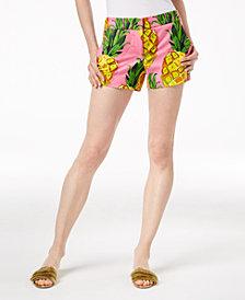 Trina Turk Corbin Pineapple-Print Shorts