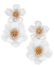 kate spade new york Gold-Tone Flower Double Drop Earrings