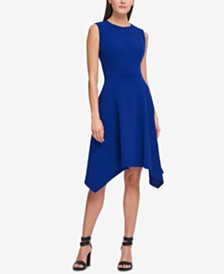 DKNY Handkerchief-Hem Fit & Flare Dress, Created for Macy's