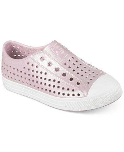 Skechers Girls' Guzman 2.0 - Aqua Shimmers Casual Sneakers from Finish Line