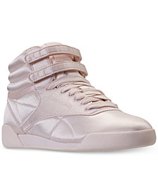 Reebok Big Girls' Freestyle Hi Lux TXT Casual Sneakers from Finish Line