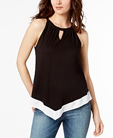 INC Colorblocked Halter Top, Created for Macy's