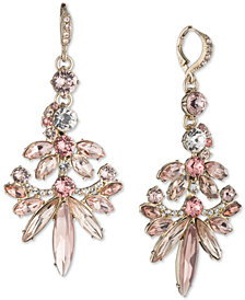 Givenchy Gold-Tone Crystal Cluster Chandelier Earrings